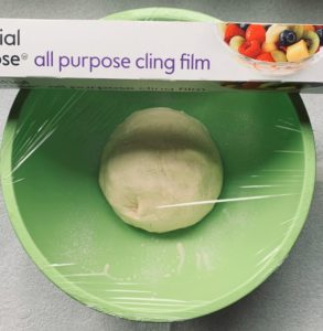 Best simple pizza dough cling film