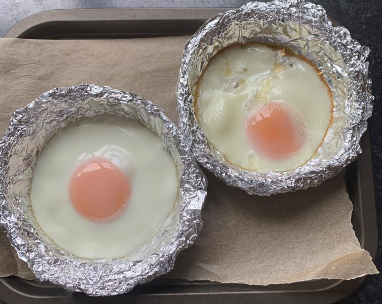 Eggs cooked in the oven
