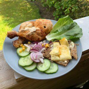 bbq raclette cheese salad